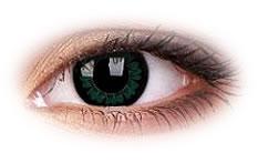 Kolorowe Soczewki Kontaktowe ColourVue Big Eyes Party Green