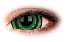 Soczewki Kontaktowe ColourVue Mini Sclera Green Goblin 17mm
